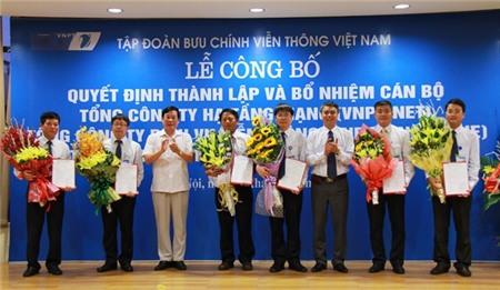 Chính thức thành lập 3 tổng công ty trực thuộc VNPT